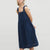 Gift Day Fashion Casual Camisole Solid Color Loose Midi Dress