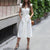 Gift Day Solid Color Sleeveless Ruffled V-Neck Sexy White Dress Midi Dress