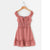 Gift Day Fashion Versatile Collar Tie Printed Short-Sleeved Tunic Mini Dress