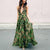 Gift Day Sling Bohemia Floral Sleeveless Strapless Backless Maxi Dress