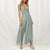 Gift Day Sexy Solid Color V-Neck Sling Jumpsuit