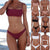 Gift Day Solid Color Split Nylon Bikini