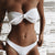 Gift Day Solid Color Chest Knotted Openwork Bikini