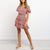 Gift Day V-Neck Floral Large Dress Mini Dress