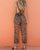 Gift Day Trendy X-Back Leopard Jumpsuit