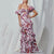 Gift Day Tube Top Print Puff Sleeve Ruffled Split Maxi Dress