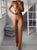 Gift Day Sexy V Neck Pure Colour Long Sleeve Jumpsuit
