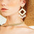 Gift Day Multi-Layer Wood Rattan Shell Earrings