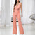 Gift Day Strap Solid Color Sleeveless V-Neck Wide Leg Jumpsuit
