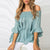 Gift Day One-Neck Wrap Chest Strapless T-Shirt Trumpet Sleeves Loose Printed Top
