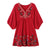 Gift Day Casual Embroidered V-Neck Lantern Sleeve Loose Dress