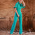 Gift Day Fashion New Round Neck Ruffled Slender Jumpsuit
