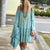 Gift Day One-Shouldered Bohemian Solid Color Casual Dress