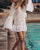 Gift Day Mini Lace Beach Pullover Dress