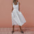 Gift Day Fashion Backless Crossbanding Sleeveless Midi Dress
