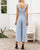 Gift Day Simple Button Front Ruffle Trim Belted Tank Jumpsuit
