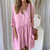 Gift Day Summer Solid Color Loose Pockets Plain Mini Dress