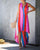 Gift Day V-Neck Rainbow Striped Swallowtail Dress