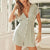 Gift Day Fashion Casual V-Neck Dot Print Mini Dress