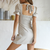 Gift Day Cross Bow Backless Small Design Mini Dress