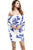 Gift-Day Women Sexy Sleeve Party Vintage Print Bandage Bodycon Dress