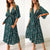 Fashion V-Neck Print Vacaton Dress