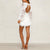 Gift Day Fashion V-Neck Stitching Lace Mini Dress