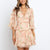 Gift Day Fashion V-Neck Print Long Sleeve Mini Dress