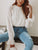 Gift Day Fashion Solid Color Long-Sleeved Top