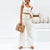Gift Day Fashion Solid Color Button Vest Flare Pants Set