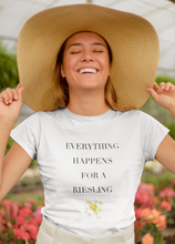 Load image into Gallery viewer, Everything Happens For a Riesling Women's T-Shirt - KATLIN & CO.