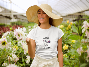 Wine Icorn Women's T-Shirt - KATLIN & CO.