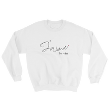 Load image into Gallery viewer, J'aime Le Vin Unisex Sweatshirt - KATLIN & CO.