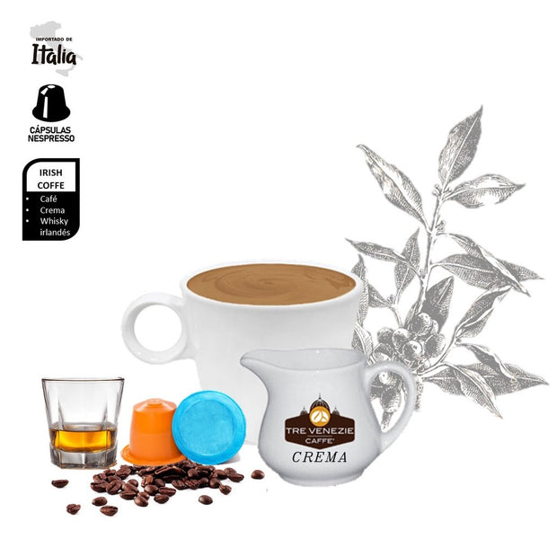 Irish Coffee Compatibles Nespresso Barocco - Cafe Barocco Chile