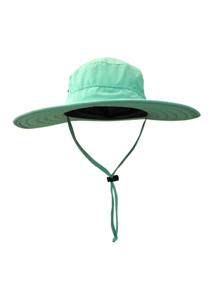 ZeuKnLu Lucite Green Sun Hat Without Fleece Liner Front View