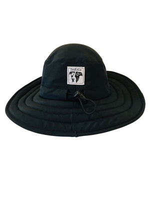 ZeuKnLu Black Sun Hat without the removable liner back view