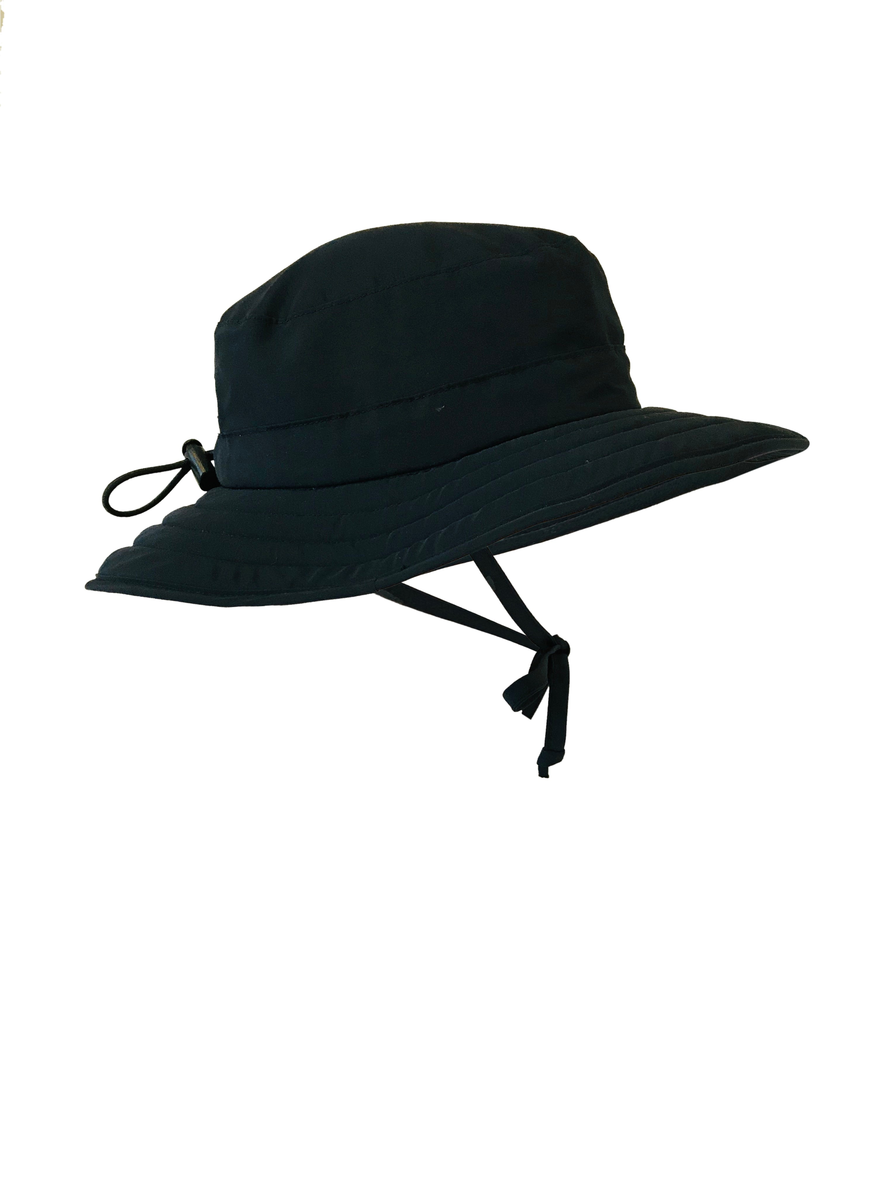 ZeuKnLu Black Sun Hat without the removable liner side view