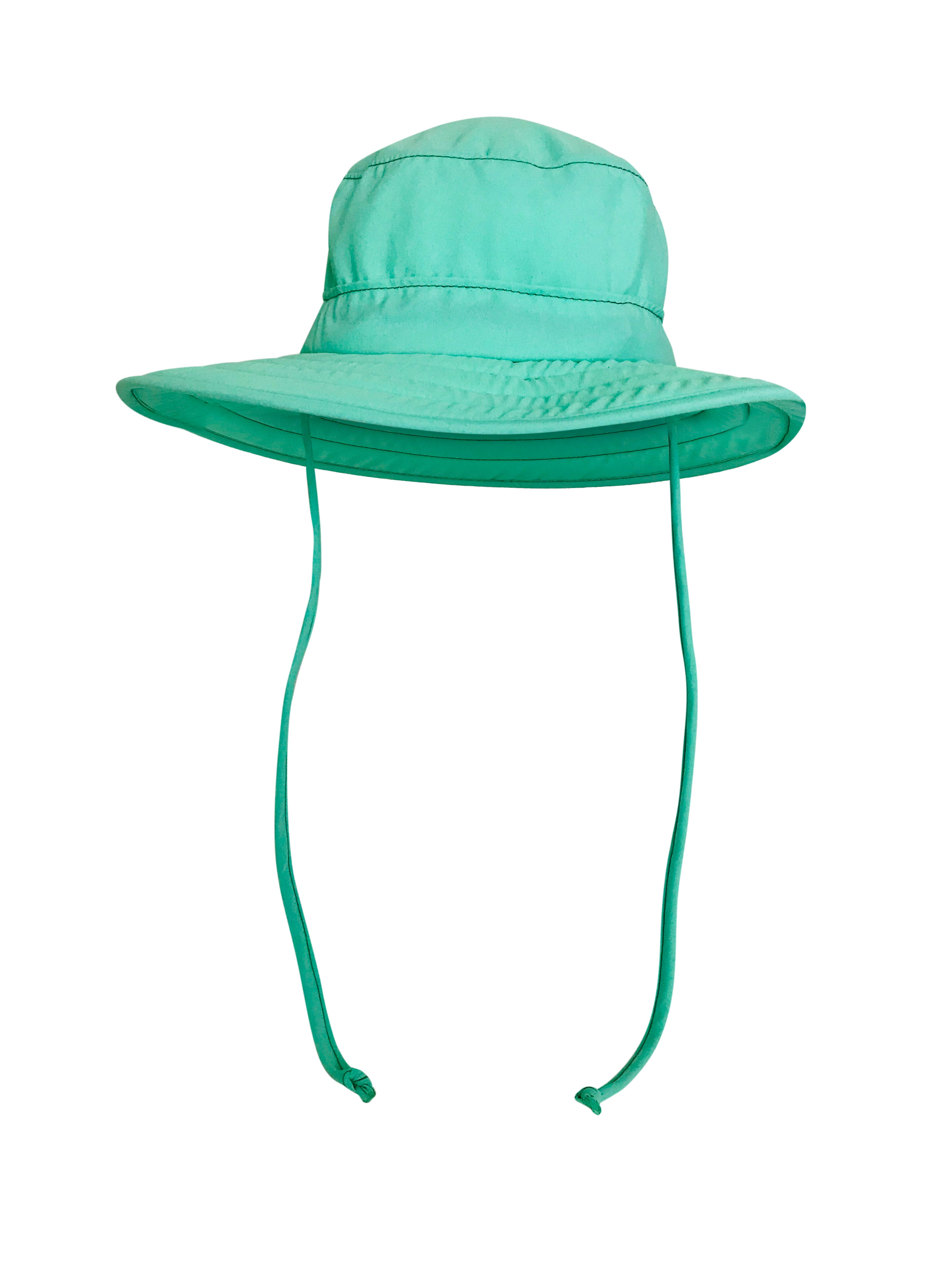 ZeuKnLu Lucite Green Sun Hat With Fleece Liner Front View