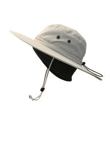 ZeuKnLu Glacier Gray Sun Hat With Fleece Liner Side View