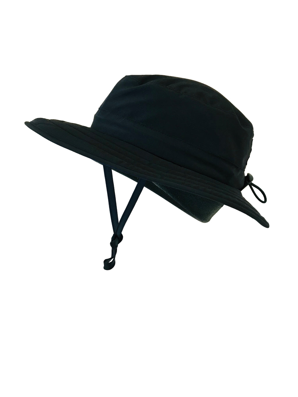 ZeuKnLu Black Sun Hat with removable liner side view