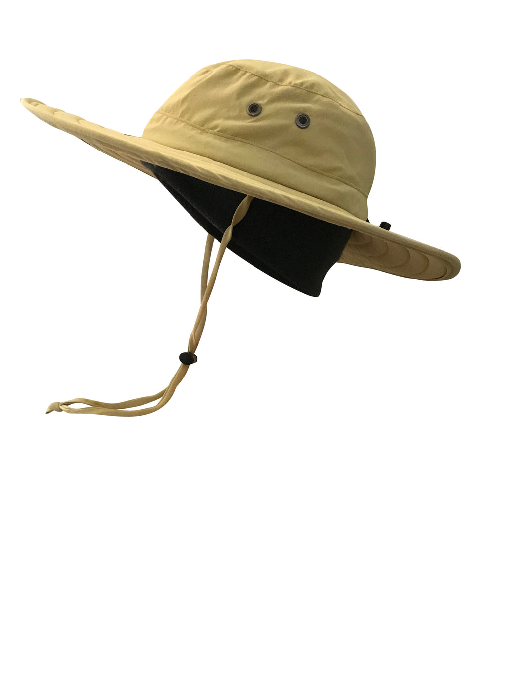 ZeuKnLu Hemp Sun Hat With Removable Fleece Liner Side View