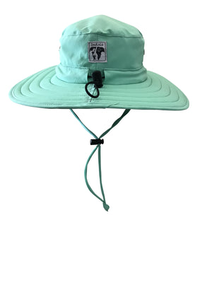 ZeuKnLu Lucite Green Sun Hat With Fleece Liner Back View
