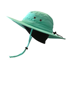 ZeuKnLu Lucite Green Sun Hat With Fleece Liner Side View
