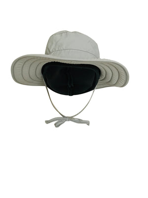ZeuKnLu Glacier Gray Sun Hat With Fleece Liner Front View