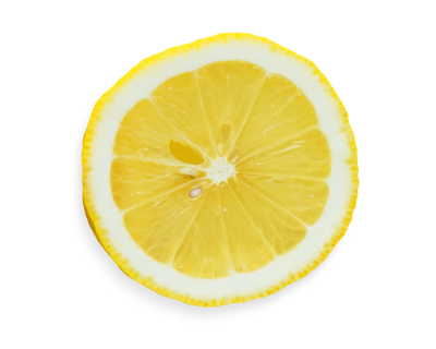 Lemon half with seeds