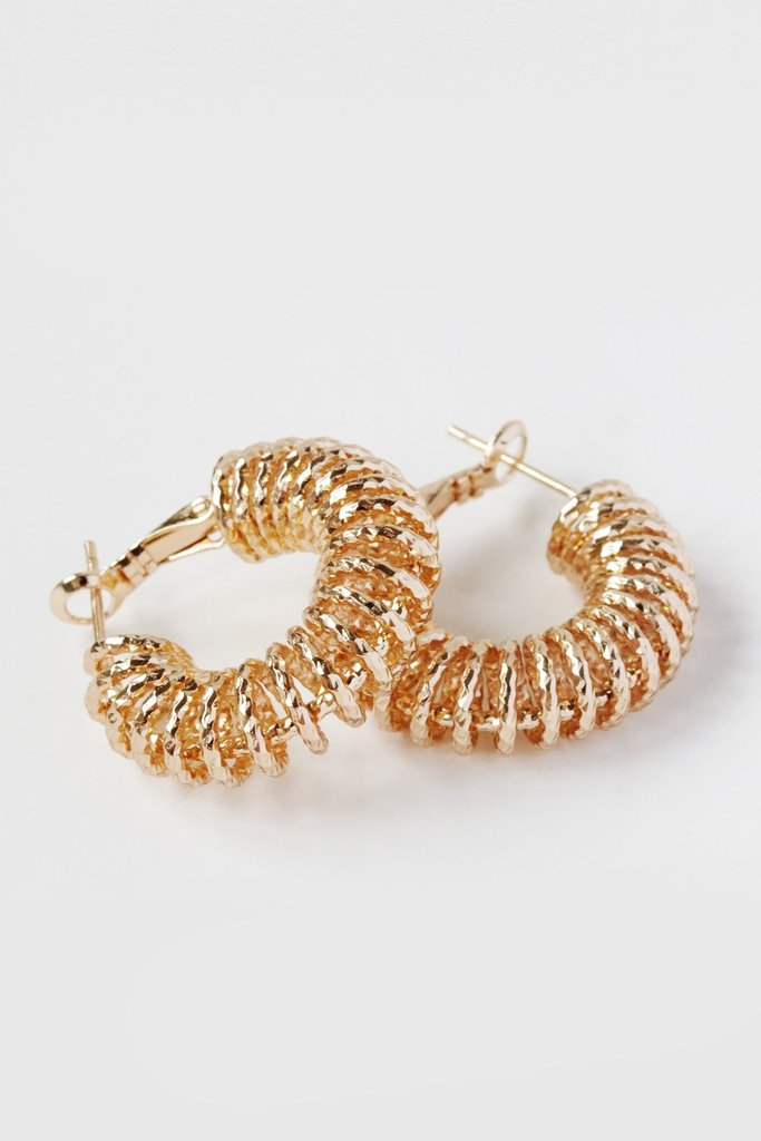 Reliquia - Spiral Hoop Earrings (Yellow)