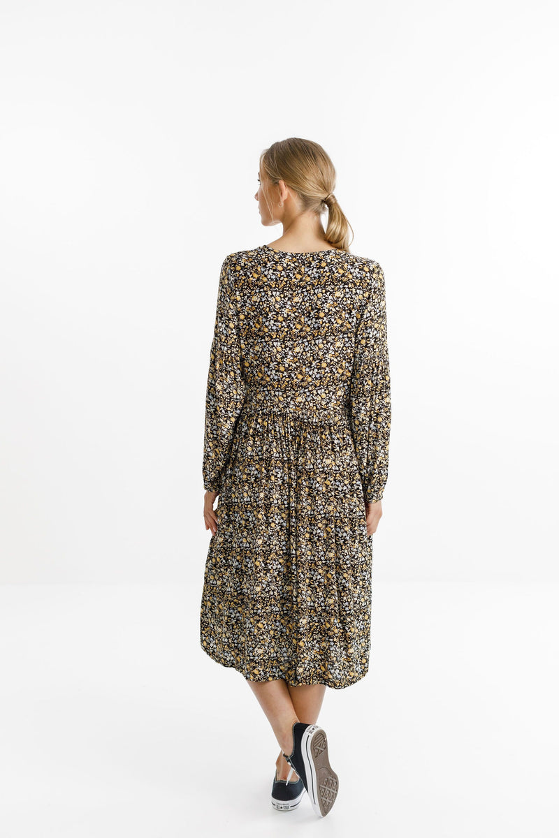 Thing Thing - Wrapped Up Dress - Autumn Leaf