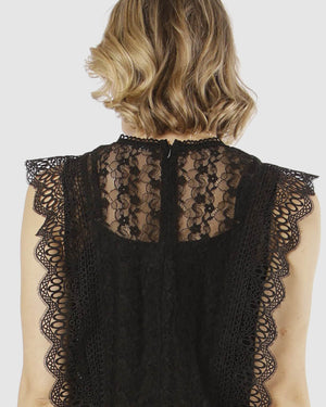 Fate + Becker - Atlantis Lace Top (Black)