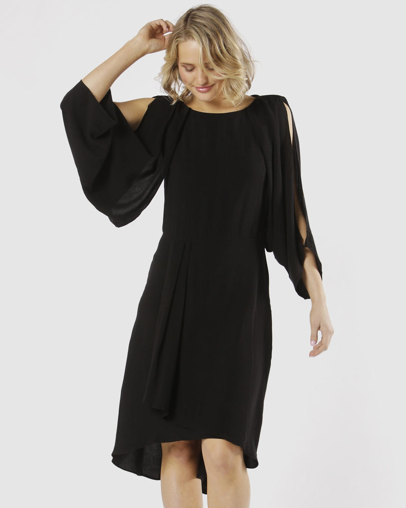 Fate + Becker - Marrakesh Cowl Back Dress (Black)
