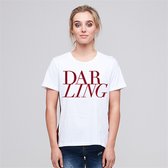 Alaska Tees - Bobbi Darling Red Matte (White)